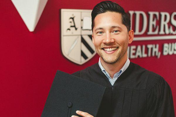 Happy Anderson College Graduate on graduation day