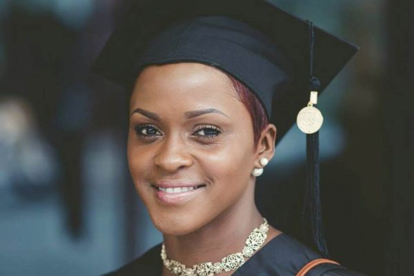 Female portrait on Graduation Day at Anderson College